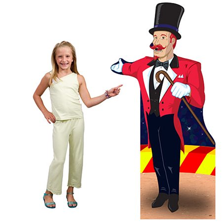 5 ft. Circus Ringmaster Standee](Circus Ringmaster Outfit)