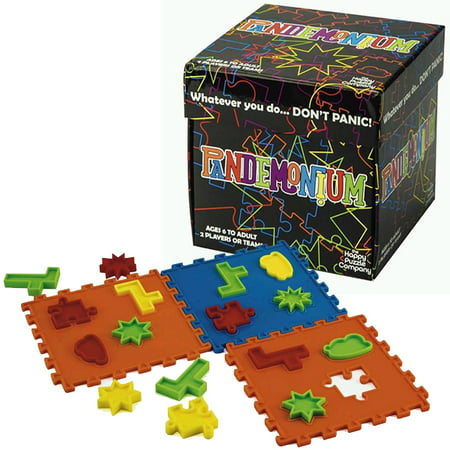 Pandemonium - Race Your Opponent To Recreate The Images. Work fast and don't panic! Multicolored 2 player or team family game that's fun for everyone. Uses hand/eye coordination and spatial