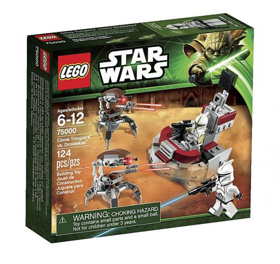 Star Wars The Clone Wars Clone Troopers vs. Droidekas Set LEGO 75000
