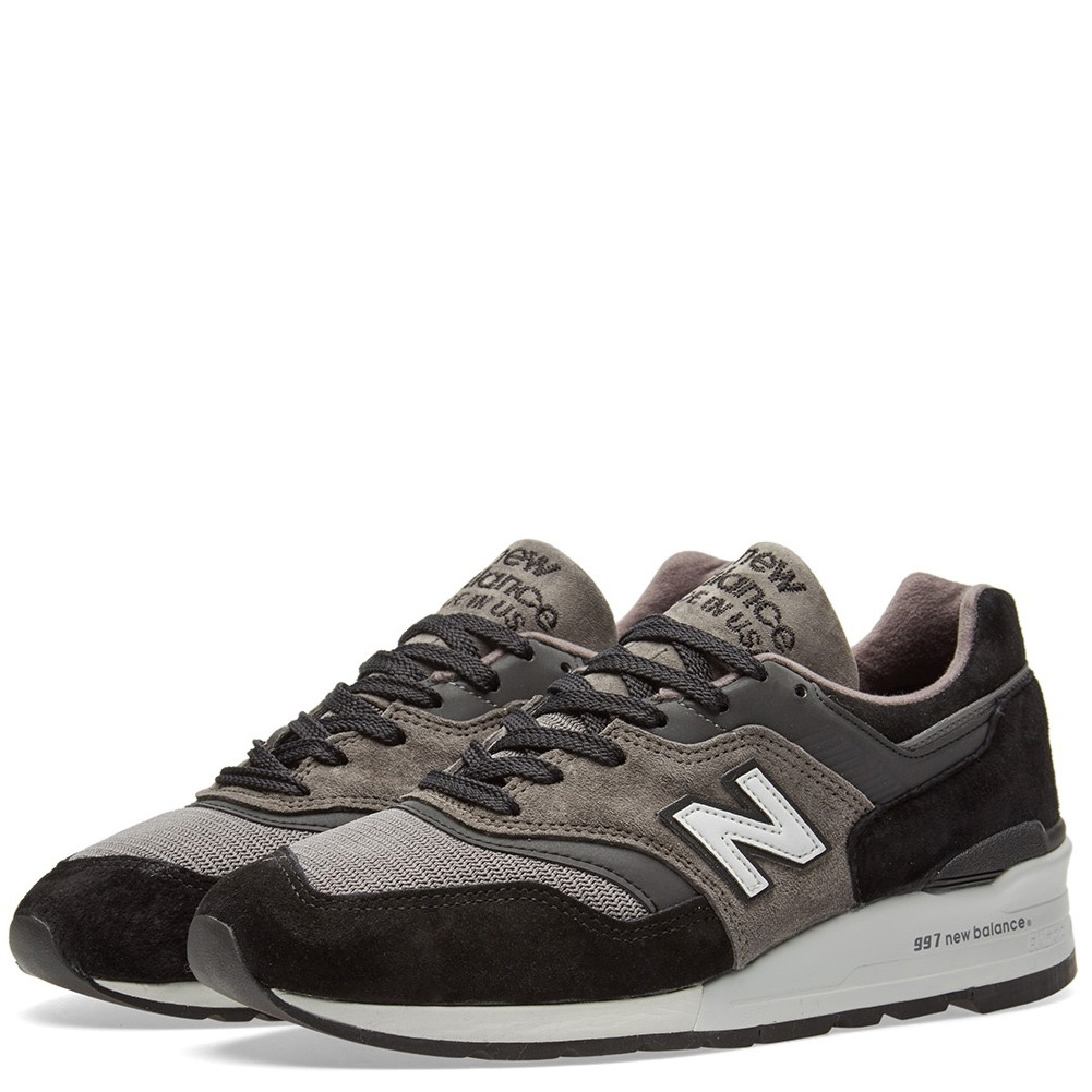 New Balance Men's 997 Made In USA Sneakers M997CUR Black Grey by