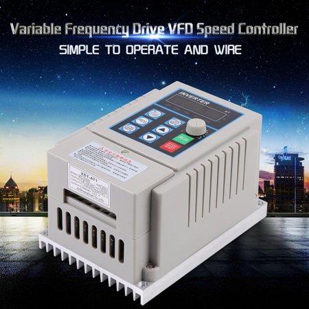 Yosoo 1pc AC 220V 0.75kW Variable Frequency Drive VFD Speed Controller Inverter Single Phrase, Inverter Motor Drive,Variable Frequency