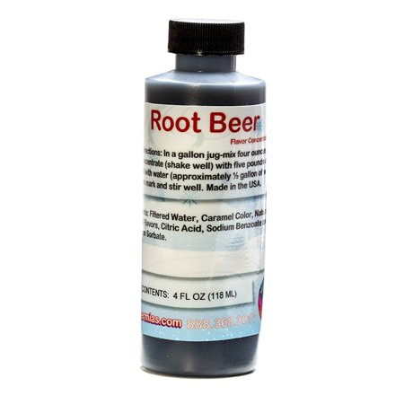 Root Beer Shaved Ice and Snow Cone Flavor Concentrate 4 Fl Ounce