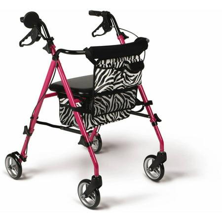 Medline Posh Rollator  Pink
