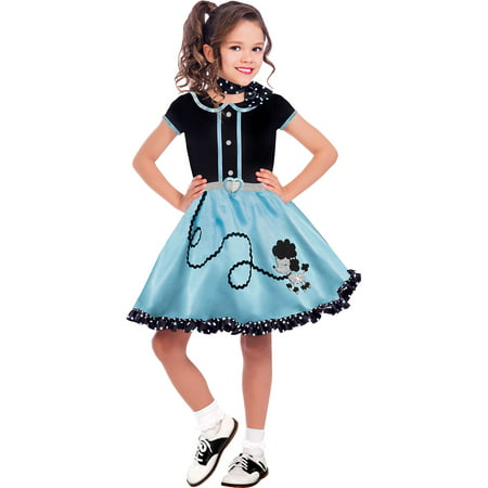 Halloween For Girl (At The Hop Poodle Skirt Halloween Costume for Girls, Medium, with)