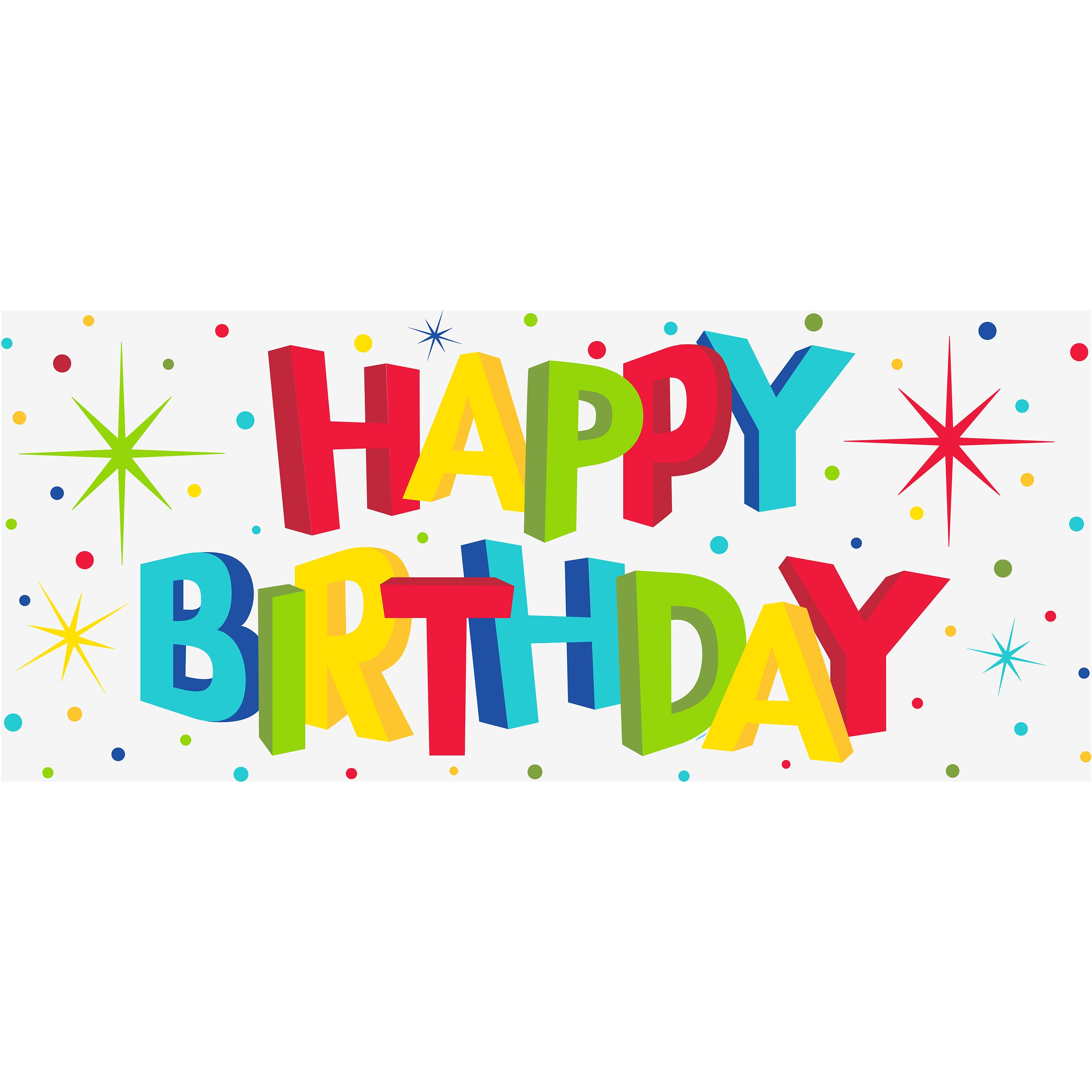 Plastic Bold Happy Birthday Wall Banner, 5ft x 2.25ft