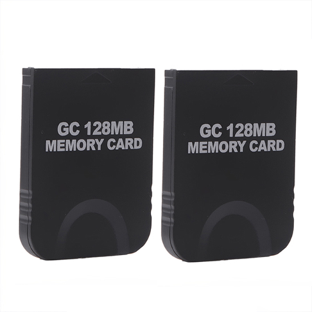HDE 2 Pack of 128 MB Gaming Memory Cards for Nintendo Wii and GameCube (Black) (Wii Console Memory Card)