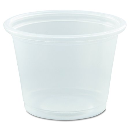 Dart 100PC 1.7-Inch Top and 1.2-Inch Bottom Diameter 1.3-Inch Height 1-Ounce Conex Complements Plastic Clear Portion Container (Case of -