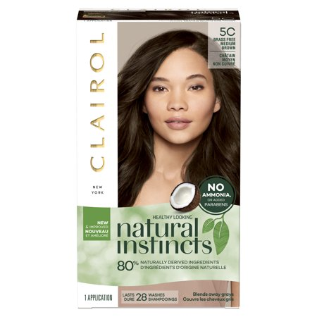 Clairol Natural Instincts Brass-Free Hair Color, 5C Medium