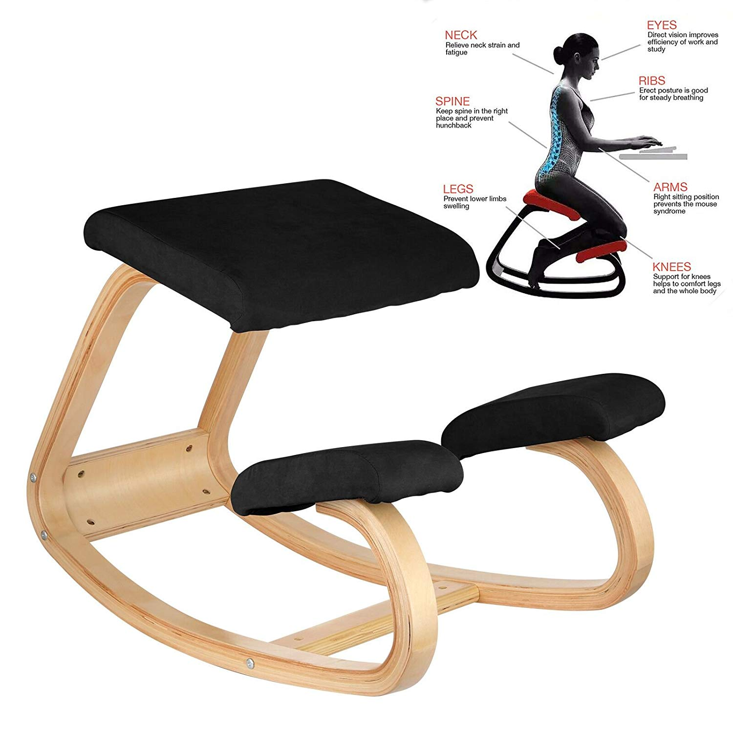 Awe Inspiring Bestequip Ergonomic Kneeling Chair Heavy Duty Better Posture Kneeling Stool Office Chair Home For Body Shaping Relieveing Stress Meditation Desk Pdpeps Interior Chair Design Pdpepsorg