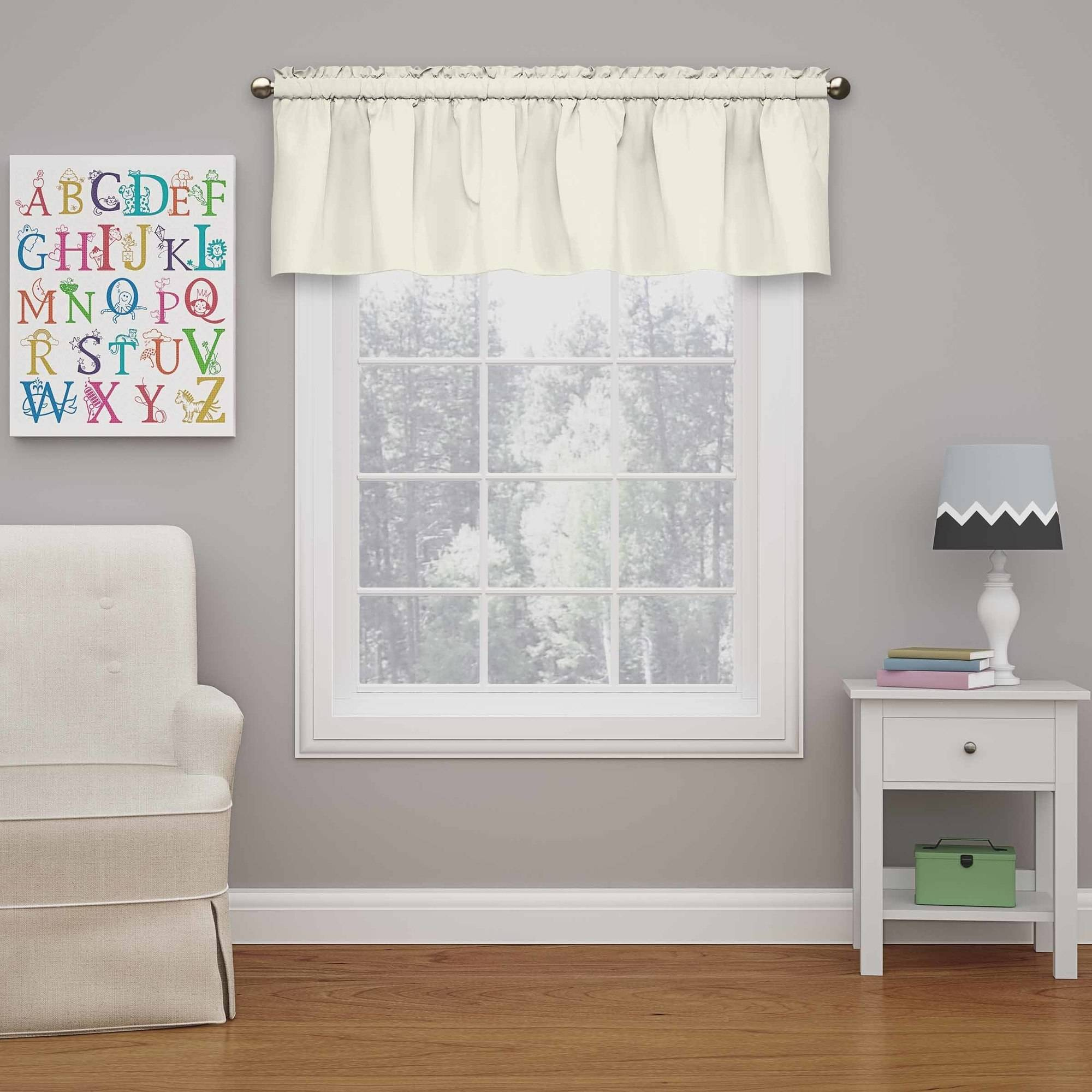 Eclipse Grommet Blackout Energy-Efficient Kids Bedroom Curtain Valance