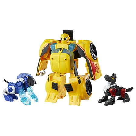 Playskool heroes transformers rescue bots bumblebee rescue guard 10-inch converting toy robot action figure, lights and sounds, toys for kids ages 3 and up - Bumblebee Costume Transforms Into Car