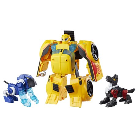 Playskool heroes transformers rescue bots bumblebee rescue guard 10-inch converting toy robot action figure, lights and sounds, toys for kids ages 3 and up (Rescue Bots Party Supplies)