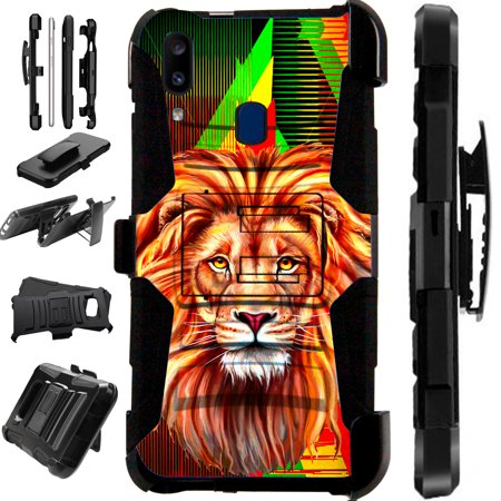 Compatible Samsung Galaxy A20 (2019) Case Armor Hybrid Phone Cover LuxGuard Holster (Best Phone In World 2019)