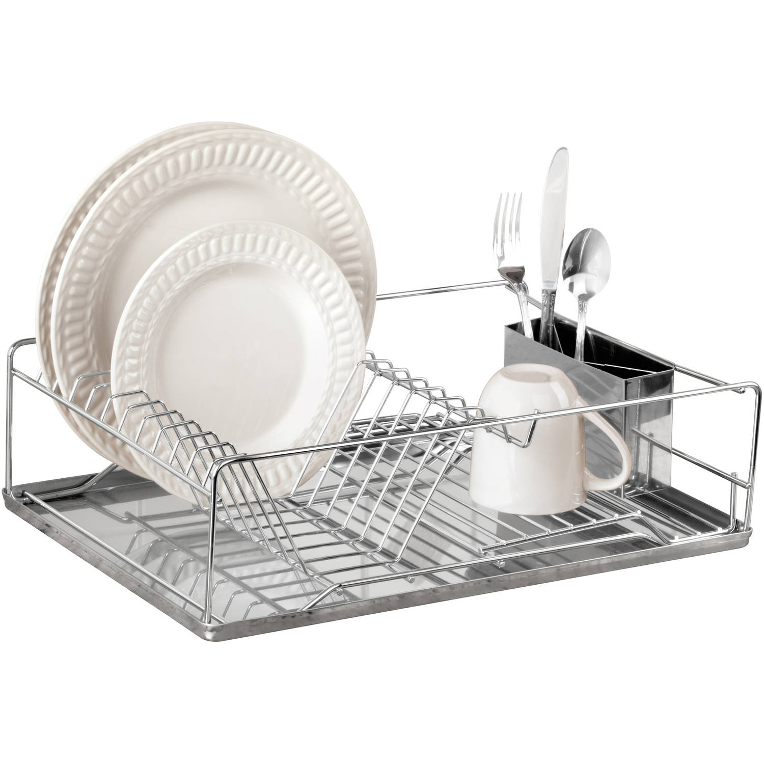 "Kitchen Details 3-Piece Stainless Steel 19"" Dish Rack by Kennedy International, INC."
