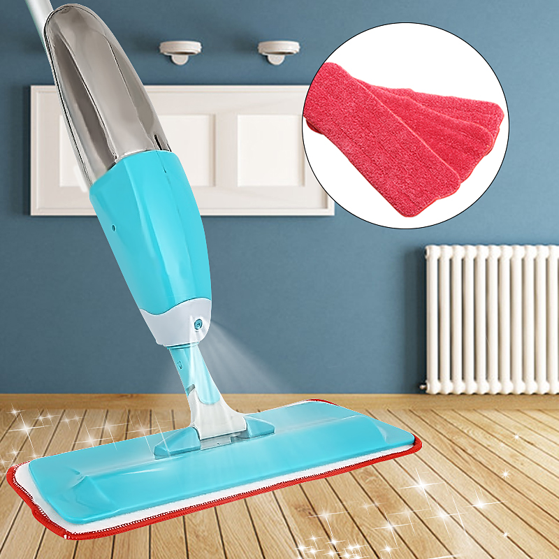 3Pcs/Set Washable Spray Mop Pad Replacement Microfiber Mop Head Household Dust Cleaning For Wood Tile Laminate Floor Super Cleaner (Mop not Included)