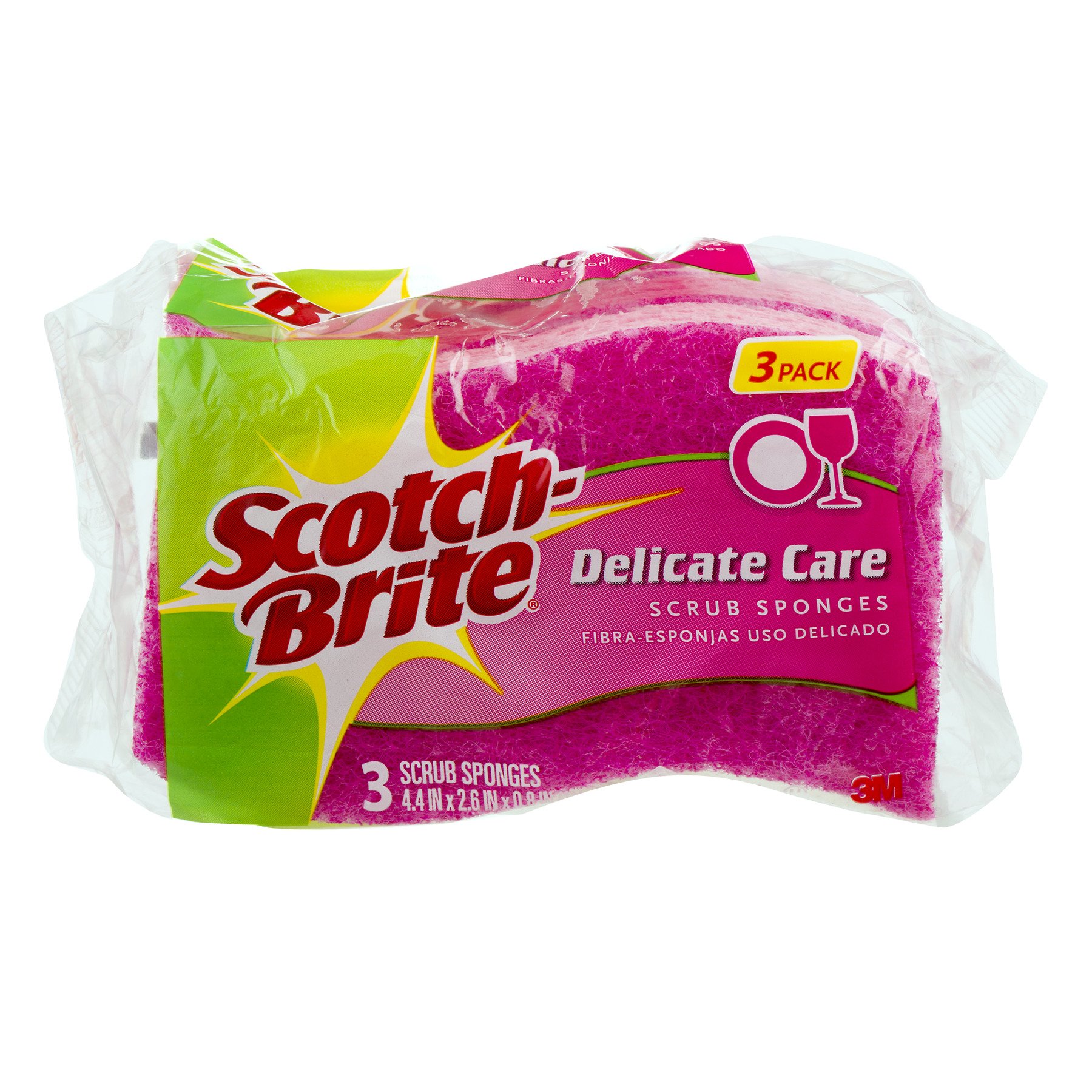 Scotch-Brite Delicate Care Scrub Sponges - 3 CT