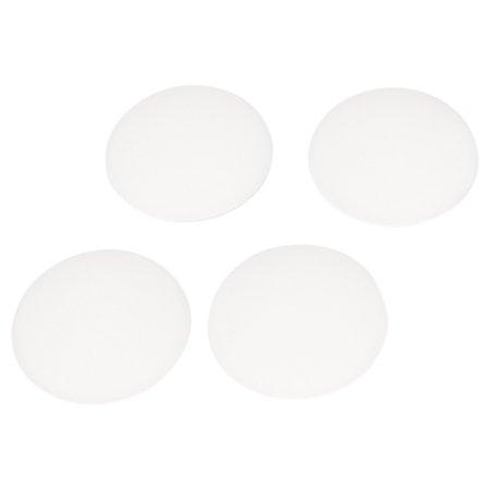 Unique Bargains White Rubber Adhesive Wall Guard Door Handle Bumper Stopper Protector 4/8pcs