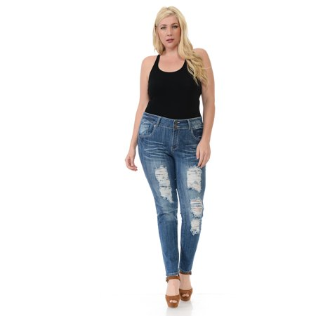 sweet look premium edition women's jeans - plus size - high waist - push up - style n426htm