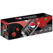 Pepsi Zero Sugar Wild Cherry Soda, 12 Fl. Oz., 12 Count