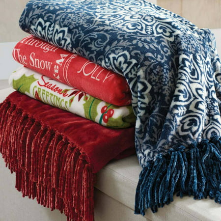 Better Homes And Gardens Holiday Fringe Throw Blanket