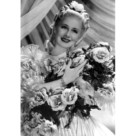 Norma Shearer Portrait in Classic with Bouquet Photo (Gorham Classic Bouquet)