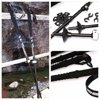 Outdoor Survive Climbing Trekking Walking Hiking Camping Sport Sticks Poles Alpenstock anti-shock 65-135cm Adjustable