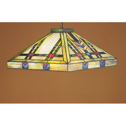 "Meyda Tiffany 26464 3-Light 17"" Wide Pendant with Handmade Shade"