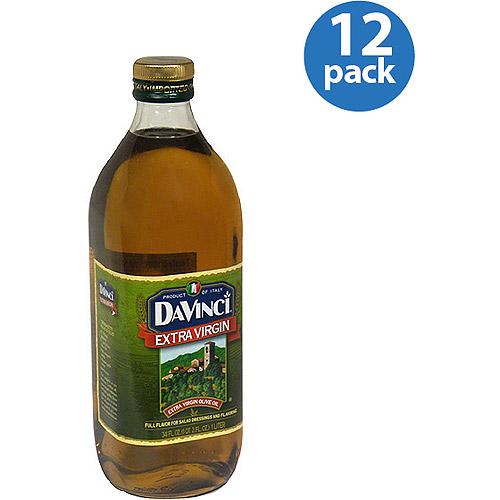 DaVinci Extra Virgin Olive Oil, 34 fl oz, (Pack of 12)