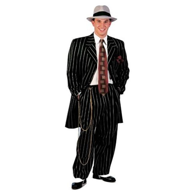 Secrets a Division of J Nunley SAM-13KWSXXL Zoot Suit-XXL Jacket  Pants in Black with White Stripes