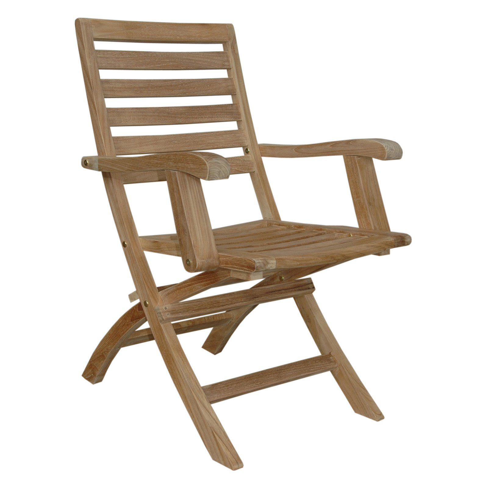 Anderson Teak Andrew Outdoor Folding Armchair Set of 2 by Anderson Teak