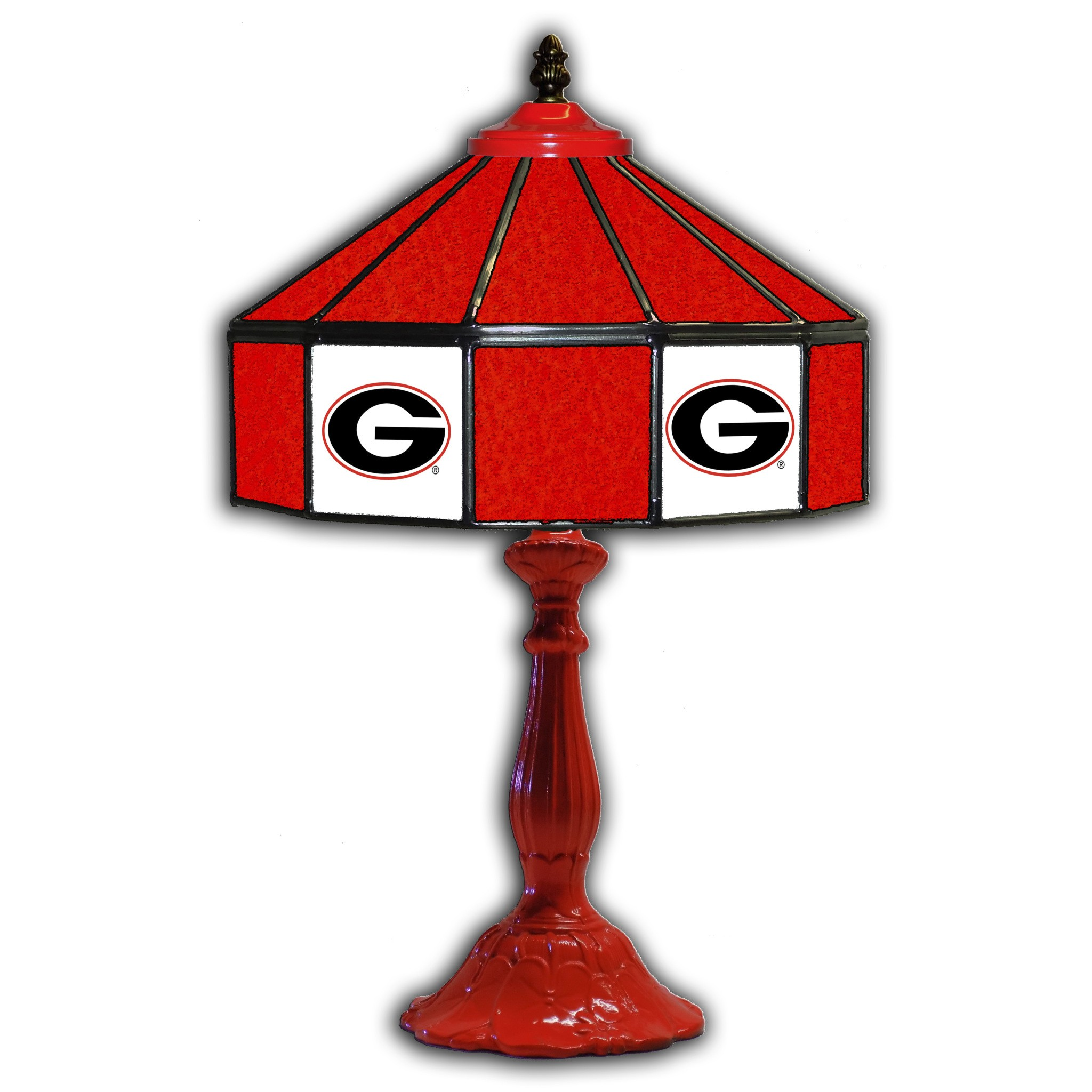 University Of Georgia 21 Glass Table Lamp