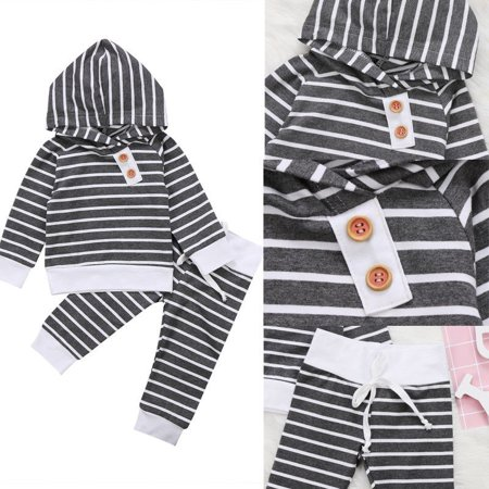 UK Newborn Kids Baby Girls Spring Sweatshirt Tops+Pants 2pcs Outfits Tracksuit
