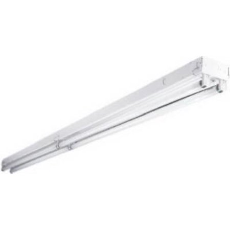 Tandem, 8', Commercial, Fluorescent Strip Light, Four 4' Lamps, 2 In E