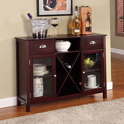Buffet Server Wine Rack - Cherry
