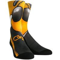 GA Tech Yellow Jackets Rock Em Socks Youth Mascot Crew Socks - No Size
