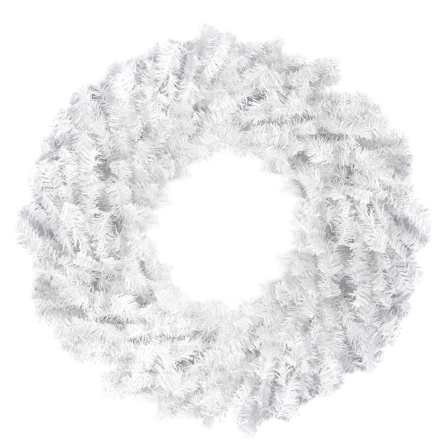 Northlight Artificial White Canadian Pine Unlit Christmas Wreath