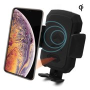 Acumen Wireless Car Charger Mount with Infrared Sensor Automatic Clamping Phone Holder Air Vent Mount, Compatible with 10W Charge Samsung S9/S8 Note 8/9, 7.5W iPhone X/Xs/Xs Max/8