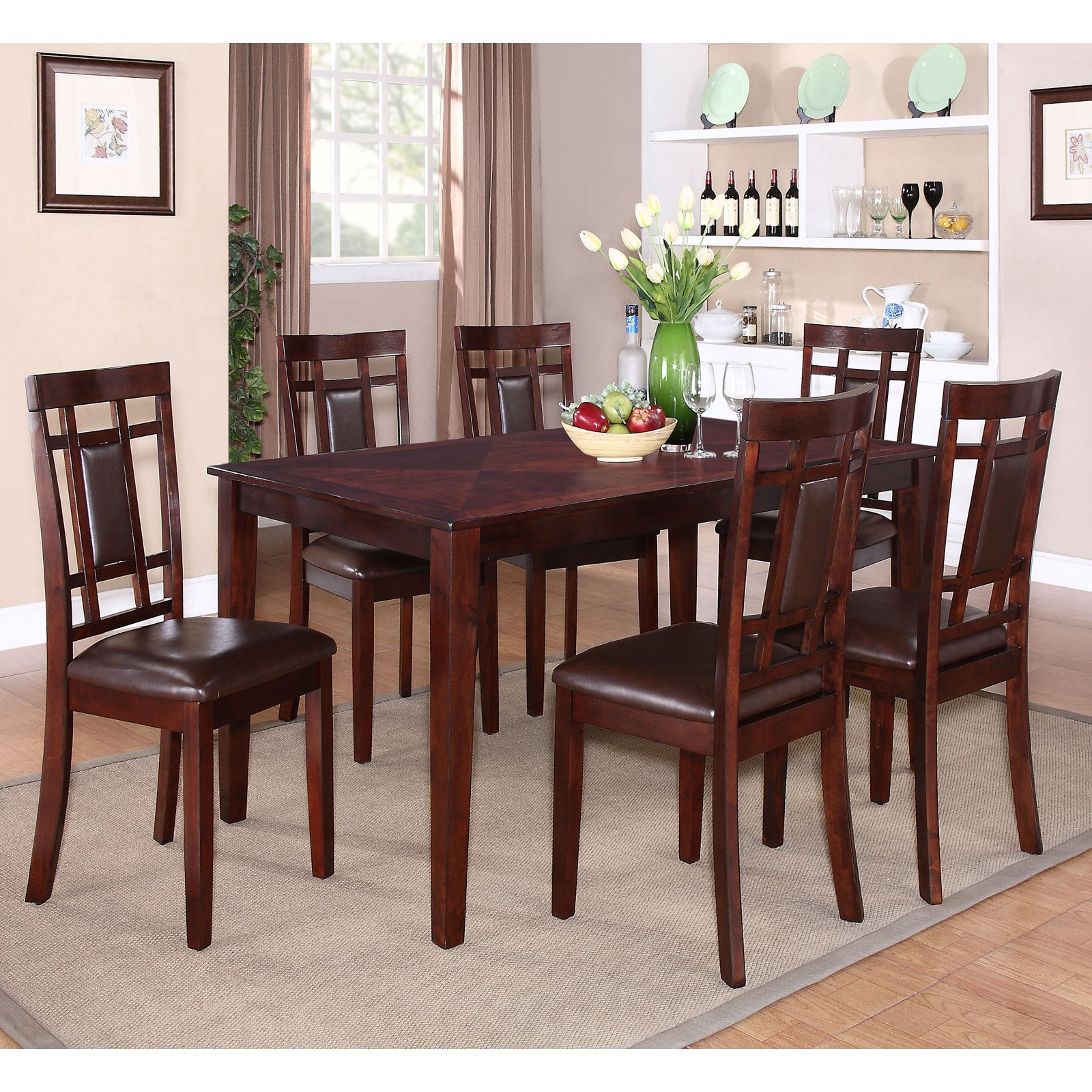 Standard Furniture Westlake 7 Piece Dining Table Set Rich Golden Brown by Standard Furniture