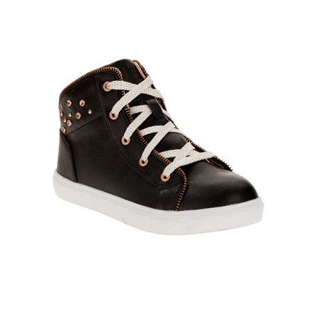 Wonder Nation Girls' Fashion Athletic Zipper High Top