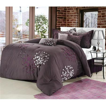 Cheila Embroidered Comforter Set - Plum - King - 8 Piece - image 1 de 1