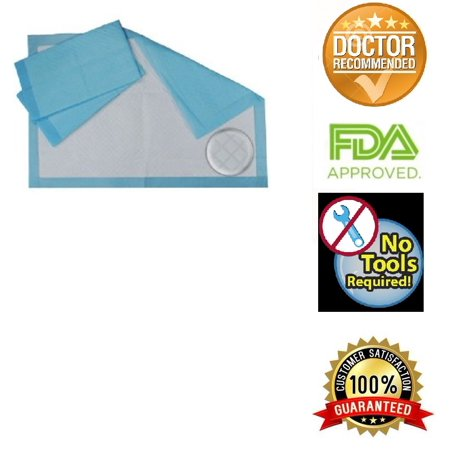 - Healthline (Chux) Disposable Underpads 23 x 36 Plus Bonus, Waterproof Highly Absorbent Bed Pads for Adults, Children and Pets, Large Size, Blue, Count (100/Pack)