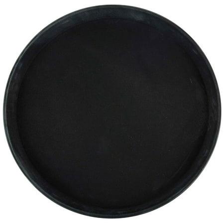 Winco Round Fiberglass Tray with Non-Slip Surface, 11-Inch, Brown