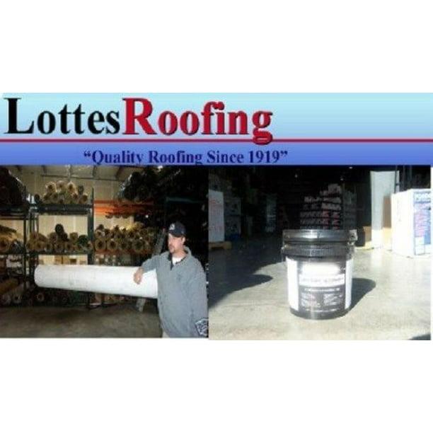 10 X 30 White Rv Rubber Roof 60 Mil Epdm Rubber Roof Kit W Adhesive Walmart Com Walmart Com