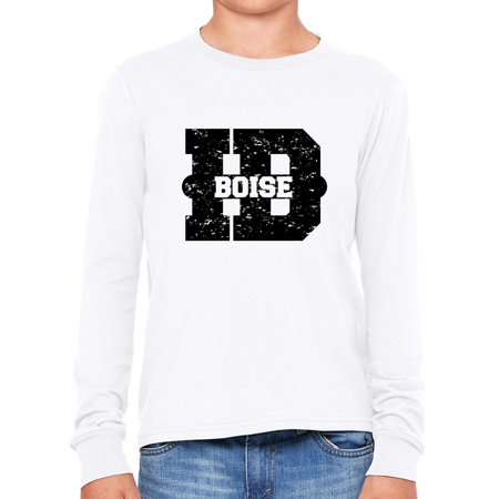 Boise, Idaho ID Classic City State Sign Girl's Long Sleeve - Halloween City Boise