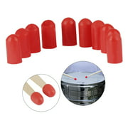 Dcenta 10pcs Drumstick Silent Tips Mute Drum Stick Mallet Protectors Covers Silicone Material Drum Set Accessories