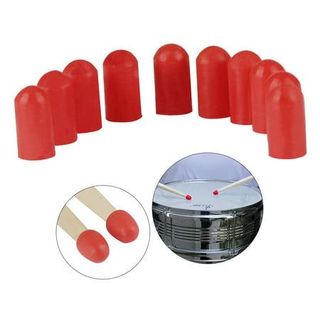 10pcs Drumstick Silent Tips Mute Drum Stick Mallet Protectors Covers Silicone Material Drum Set Accessories - image 5 de 7