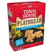 Town House Flatbread Crisps Crackers, Sea Salt & Olive Oil, 9.5 Oz