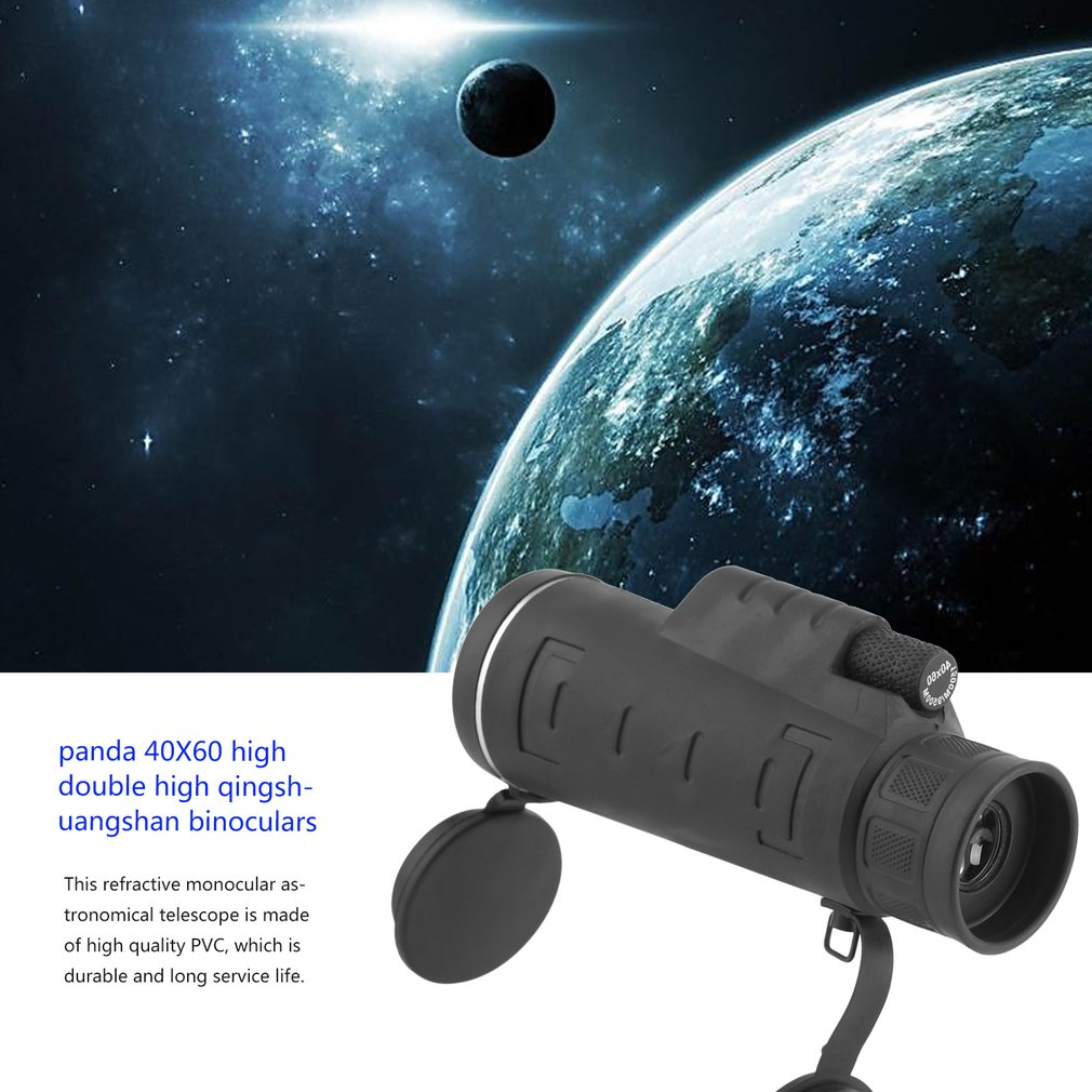 40x60 Refractive Monocular Astronomical Telescope Space Spotting Telescope With Storage Bag by