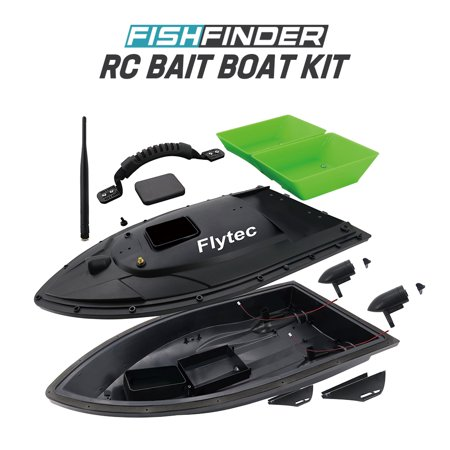 Fish Shop Boats (Flytec 2011-5 Fish Finder 1.5kg Loading Remote Control Fishing Bait Boat RC Boat KIT Version DIY Boat )