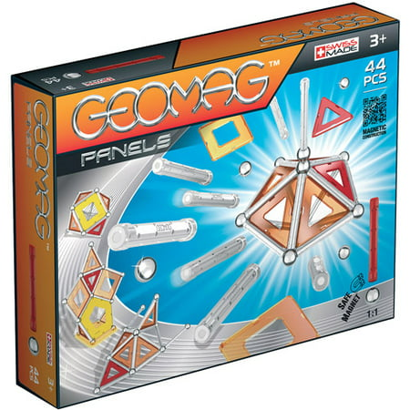 GeoMag Kids Panels Magnetic Construction System Set, 44 Pieces